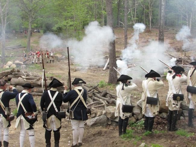 Battle at the Gen. Greene Homestead image. Click for full size.