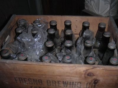 A case of unopened Bohemian Beer from the 1930's image. Click for full size.