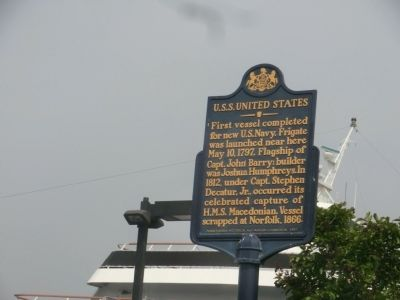U.S.S. United States Marker image. Click for full size.