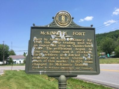 McKinney's Fort Marker image. Click for full size.