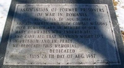 Association of Former Prisoners of War in Romania Marker image. Click for full size.