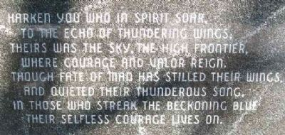 Poem on Assn of Former Prisoners of War in Romania Marker image. Click for full size.