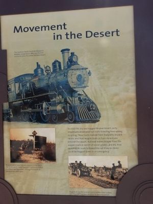 Movement in the Desert Marker image. Click for full size.