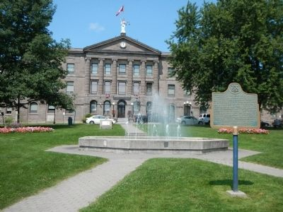 Johnstown District Court House and Gaol Marker image. Click for full size.