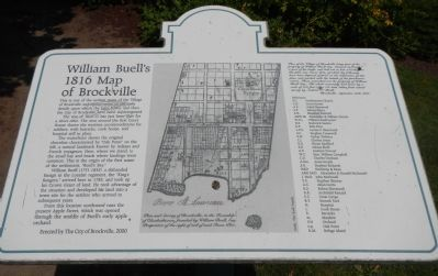 William Buell's 1816 Map of Brockville Marker image. Click for full size.