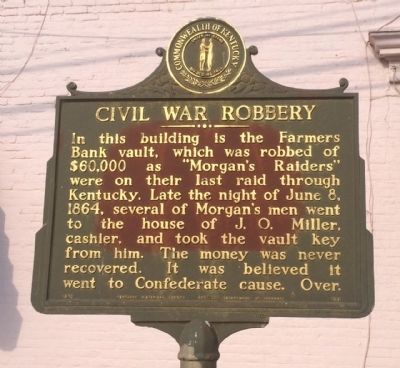 Civil War Robbery Marker image. Click for full size.