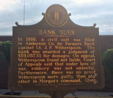 Bank Sues Marker image. Click for full size.