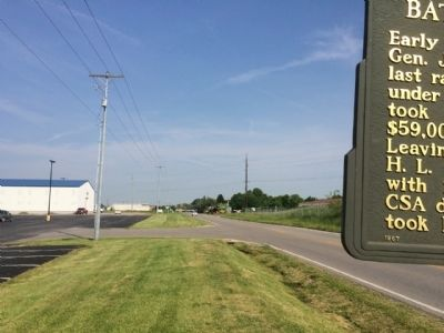 View of marker looking north on Camargo Road. image. Click for full size.