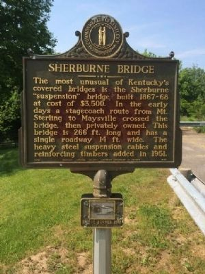 Sherburne Bridge Marker image. Click for full size.