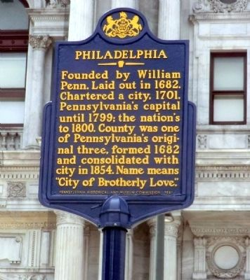Philadelphia Marker image. Click for full size.