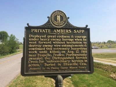 Private Ambers Sapp Marker image. Click for full size.