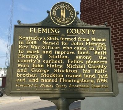 Fleming County Marker image. Click for full size.
