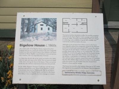 Bigelow House Marker image. Click for full size.