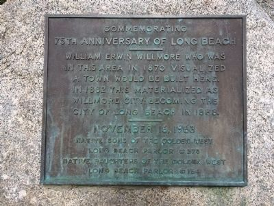 Commemorating 75th Anniversary of Long Beach Marker image. Click for full size.