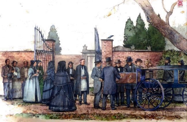 Arriving at the Cemetery. image. Click for full size.