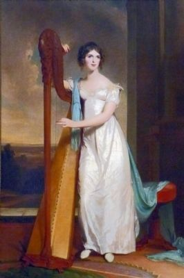 Eliza Ridgely at 15<br>The Lady with the Harp image. Click for full size.