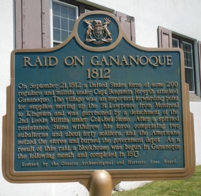 Raid on Gananoque Marker image. Click for full size.