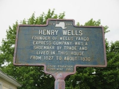 Henry Wells Marker image. Click for full size.