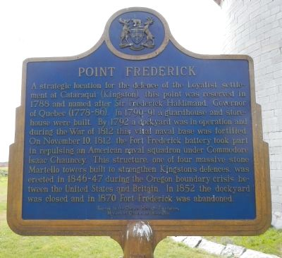 Point Frederick Marker, English side image. Click for full size.