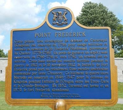 Point Frederick Marker, French side image. Click for full size.