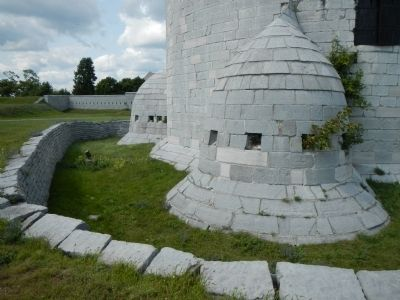 Detail of the Martello tower defenses. image. Click for full size.