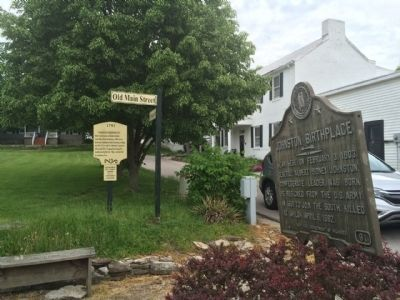 View of marker looking east on South Court Street image. Click for full size.