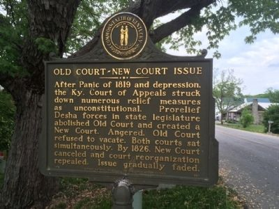Old Court-New Court Issue Marker image. Click for full size.