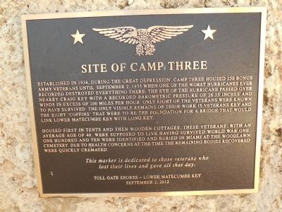 Site of Camp Three Marker image. Click for full size.