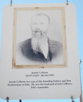 Josiah Colborn Marker image. Click for full size.
