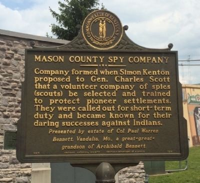 Mason County Spy Company Marker (Side 1) image. Click for full size.