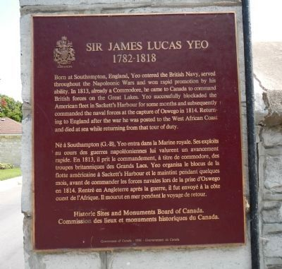 Sir James Lucas Yeo Marker image. Click for full size.
