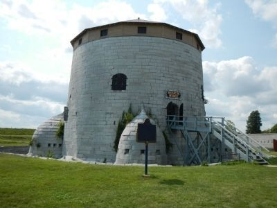 1846 Martello tower at Point Frederick image. Click for full size.