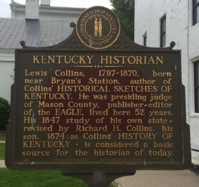 Kentucky Historian Marker image. Click for full size.