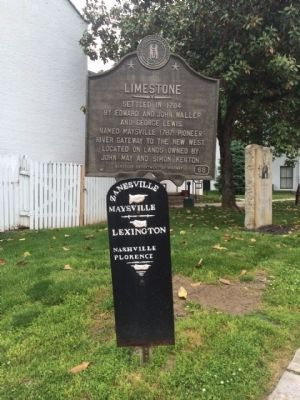 Limestone Marker & city direction marker. image. Click for full size.