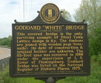"Goddard ""White"" Bridge Marker image. Click for full size."