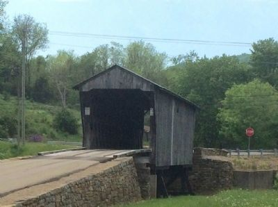 Rear view of covered bridge. image. Click for full size.