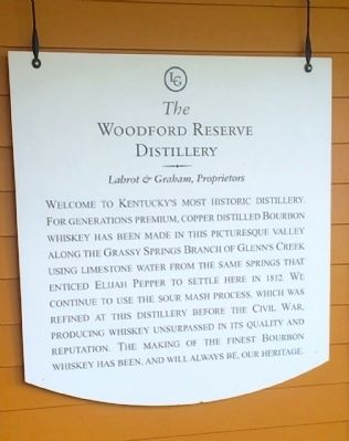 The Woodford Reserve Distillery short history. image. Click for full size.