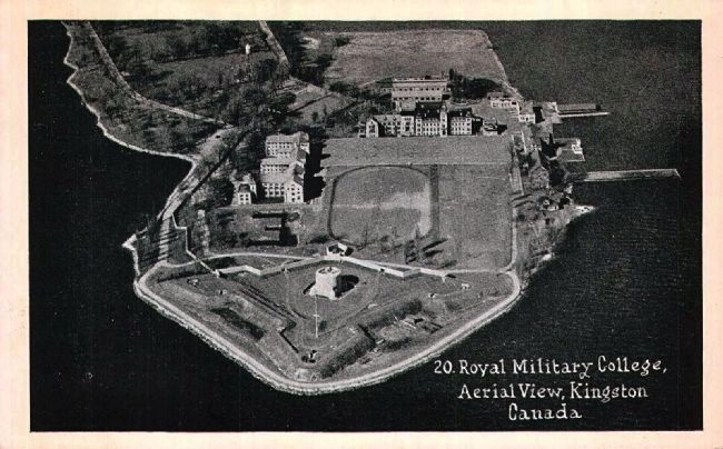 <i>Royal Military College, Aerial View, Kingston, Canada</i> image. Click for full size.