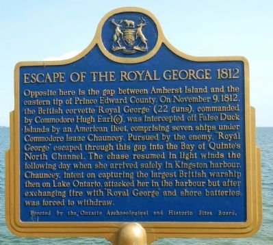 Escape of the Royal George 1812 Marker image. Click for full size.