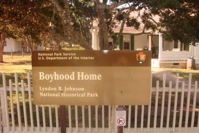 L. B. J. Boyhood Home Marker image. Click for full size.