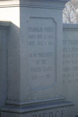 Franklin Pierce Marker image. Click for full size.