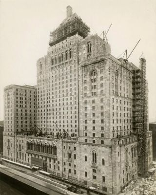 The Royal York Hotel under contruction image. Click for full size.