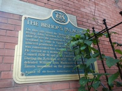 The Bishop's Palace 1818 Marker image. Click for full size.