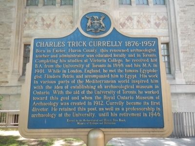 Charles Trick Currelly 1876-1957 Marker image. Click for full size.