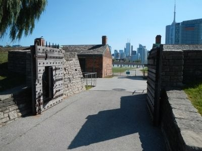 Entrance to Fort York image. Click for full size.