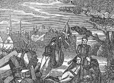 The death of General Pike at York image. Click for full size.