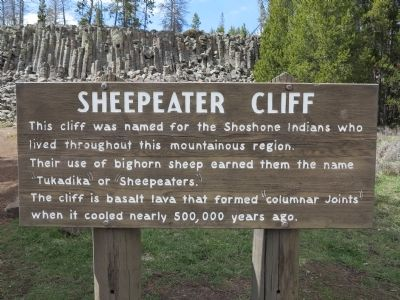 Sheepeater Cliff Marker image. Click for full size.