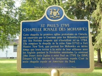 St. Paul's 1785, Chapelle Royale des Mohawks Marker image. Click for full size.
