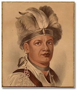Joseph Brant, (Thayendanegea) Chief of the Six Nations image. Click for full size.