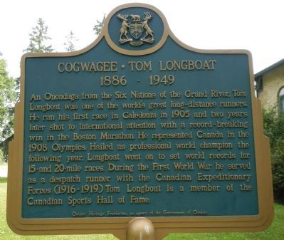 Cogwagee • Tom Longboat Marker (English) image. Click for full size.